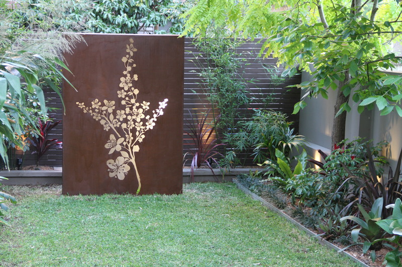 backlit corten steel panel